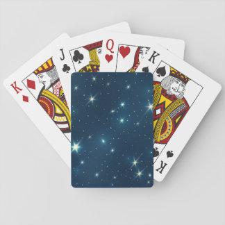 Estrellas brillantes cartas de póquer