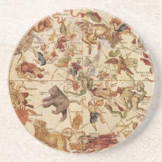 Estrellas celestiales de la astronomía del vintage posavasos manualidades
