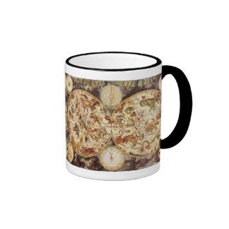 Estrellas celestiales de la astronomía del vintage taza a dos colores