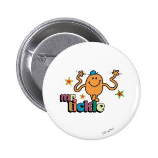 Estrellas chispeantes de Sr. Tickle el | Pin Redondo De 2 Pulgadas