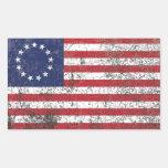 Estrellas coloniales americanas de la bandera rectangular altavoz