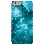 Estrellas coloreadas aguamarina funda de iPhone 6 plus barely there