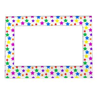 Estrellas coloreadas arco iris marcos magneticos
