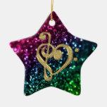 Estrellas coloreadas chispeantes con símbolos de ornamentos para reyes magos