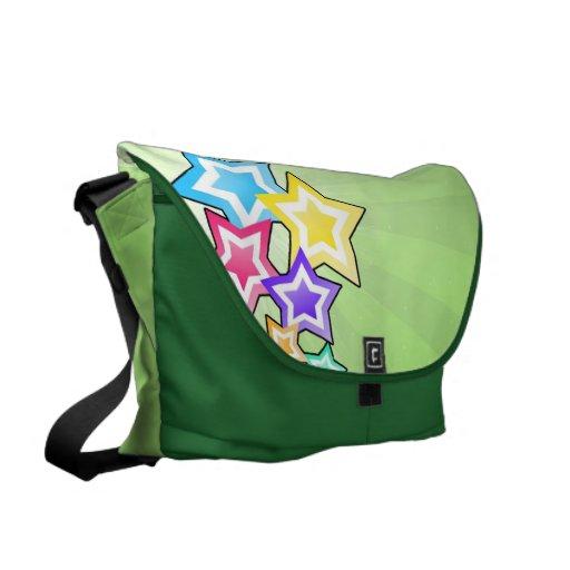 Estrellas coloridas bolsas messenger