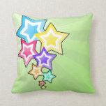 Estrellas coloridas cojin