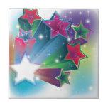 Estrellas coloridas de activación azulejos