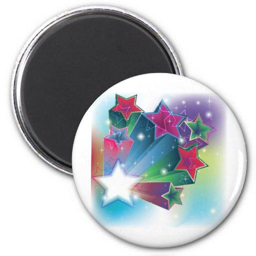 Estrellas coloridas de activación imanes para frigoríficos