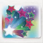 Estrellas coloridas de activación alfombrilla de raton