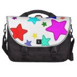 Estrellas coloridas del arco iris bolsas de portatil