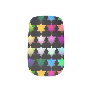 Estrellas coloridas del arte del clavo de David Stickers Para Uñas