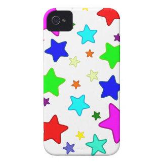 Estrellas coloridas del dibujo animado funda para iPhone 4