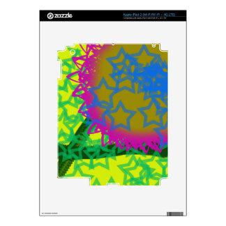 Estrellas coloridas del extracto pegatina skin para iPad 3