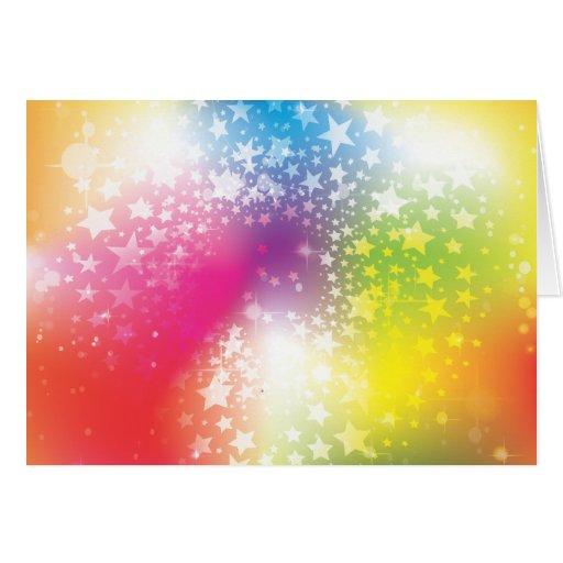 Estrellas coloridas felicitación