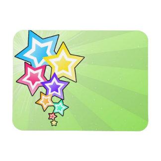 Estrellas coloridas imanes rectangulares