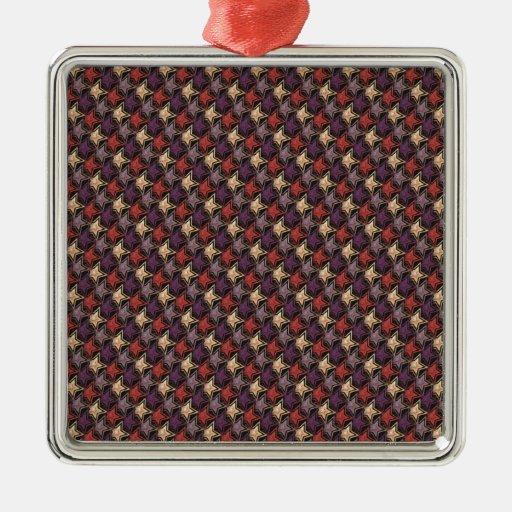 Estrellas coloridas metálicas adorno navideño cuadrado de metal