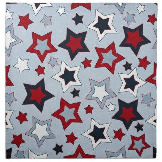 Estrellas coloridas servilleta imprimida