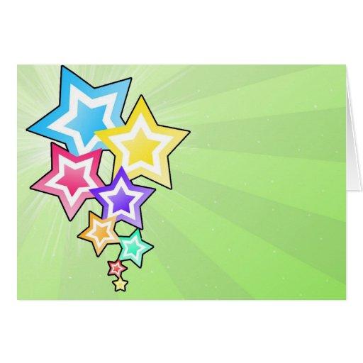Estrellas coloridas tarjeta de felicitación
