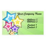 Estrellas coloridas tarjetas de visita