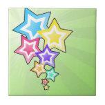 Estrellas coloridas teja cerámica