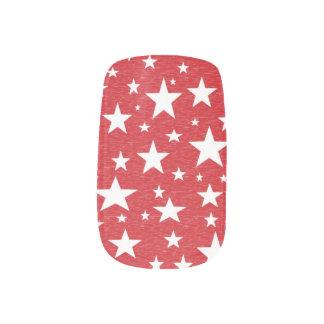 Estrellas con las etiquetas rojas de la uña del fo pegatinas para manicura