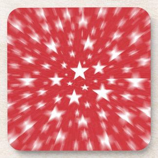 Estrellas con los prácticos de costa rojos de la f posavasos de bebidas