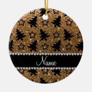 Estrellas conocidas de los árboles de navidad del adorno navideño redondo de cerámica