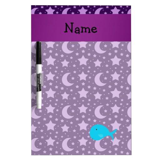 Estrellas conocidas personalizadas de la púrpura d pizarra blanca