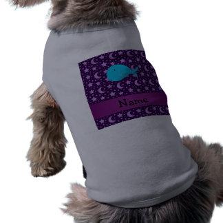 Estrellas conocidas personalizadas de la púrpura playera sin mangas para perro