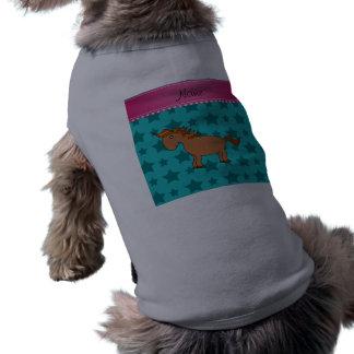Estrellas conocidas personalizadas de la turquesa playera sin mangas para perro