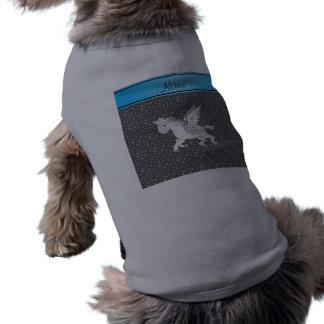 Estrellas conocidas personalizadas del gris de playera sin mangas para perro