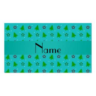 Estrellas conocidas personalizadas del navidad de tarjeta de visita