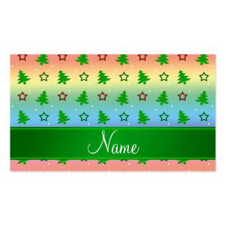 Estrellas conocidas personalizadas del navidad del plantilla de tarjeta personal
