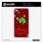 Estrellas conocidas personalizadas del oro verde d skins para eliPhone 4