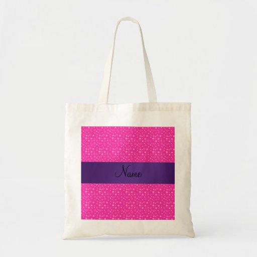 Estrellas conocidas personalizadas del rosa bolsas