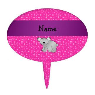 Estrellas conocidas personalizadas del rosa del os palillos de tarta