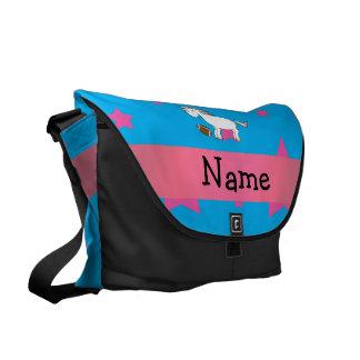 Estrellas conocidas personalizadas del unicornio d bolsas de mensajería