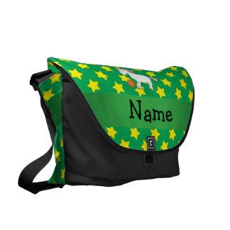 Estrellas conocidas personalizadas del unicornio d bolsas de mensajeria
