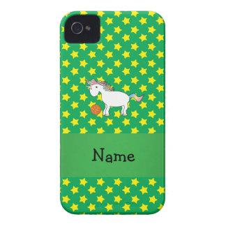 Estrellas conocidas personalizadas del unicornio d iPhone 4 Case-Mate cobertura