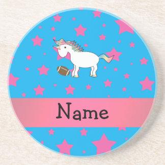 Estrellas conocidas personalizadas del unicornio d posavasos personalizados