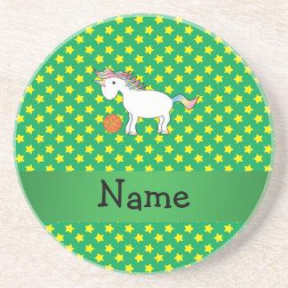 Estrellas conocidas personalizadas del unicornio d posavasos cerveza