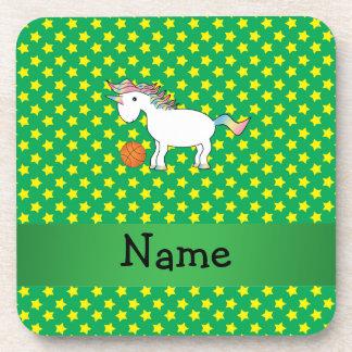 Estrellas conocidas personalizadas del unicornio d posavasos de bebida
