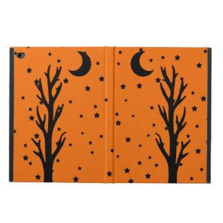 Estrellas crecientes de la luna del árbol negro