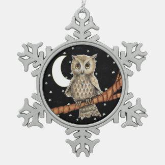 Estrellas crecientes de la luna del collar del búh adorno