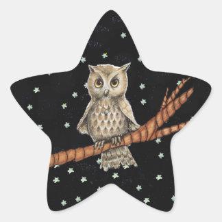 Estrellas crecientes de la luna del collar del pegatina en forma de estrella