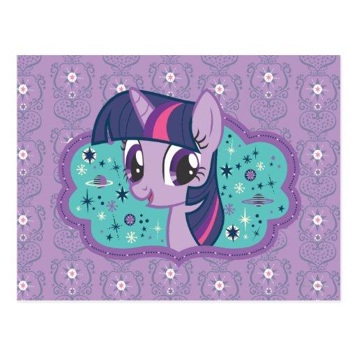 Estrellas crepusculares de la chispa tarjeta postal