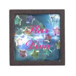 Estrellas cristalinas caja de joyas de calidad