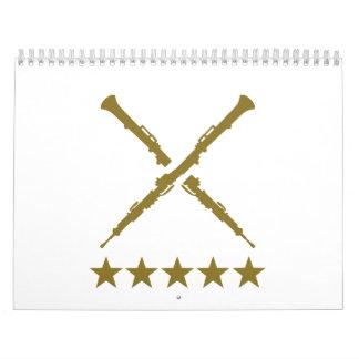 Estrellas cruzadas del oboe calendario