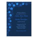 Estrellas de azules marinos elegantes que casan la comunicados personalizados