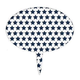 Estrellas de azules marinos patrióticas de la dive palillos de tarta